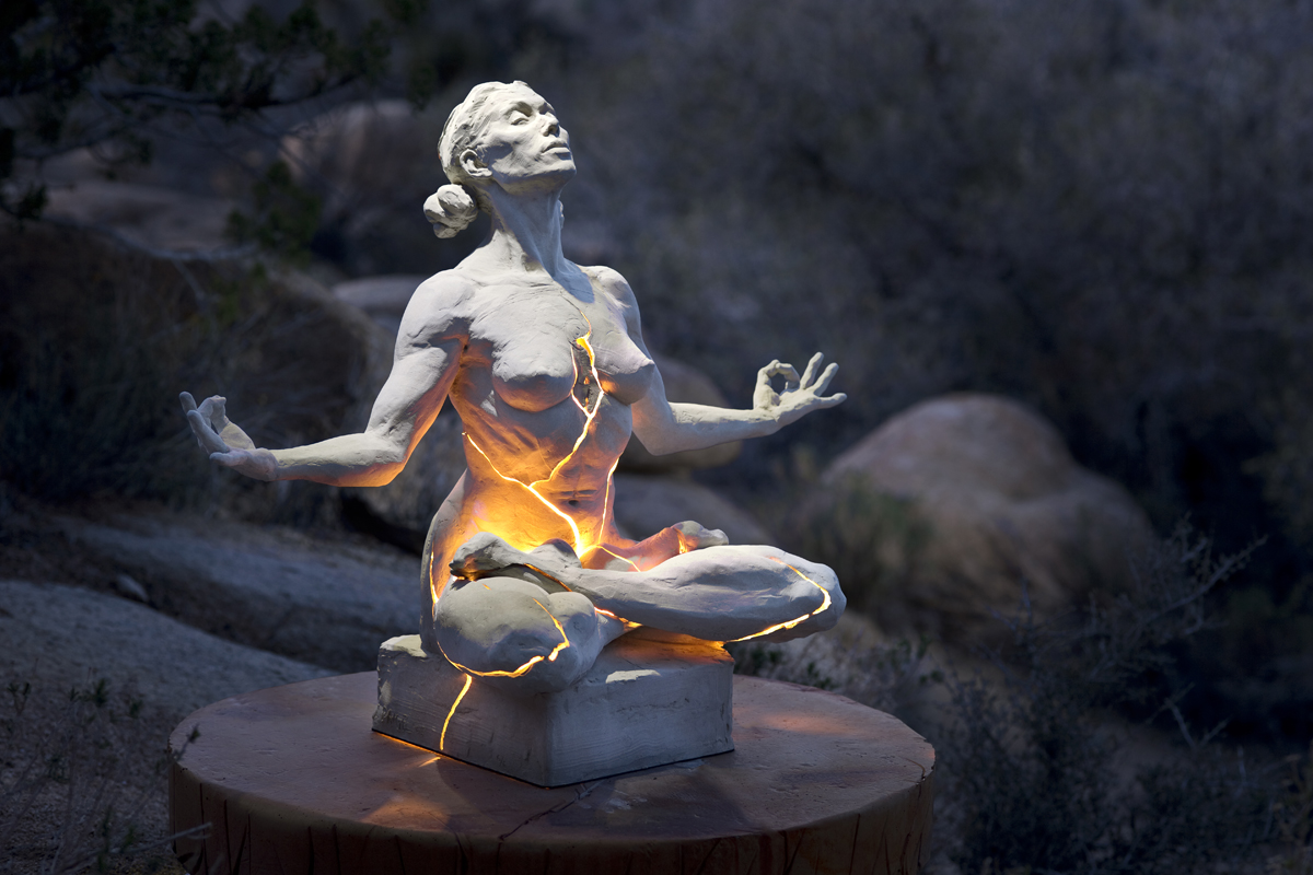 enlightenment, becoming - light statue by Paige Bradley